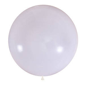 "Шар 36"" (91 см) Мексика пастель 004 WHITE (белый), фото 2"