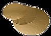 Подложка круглая золотая, h-1 мм