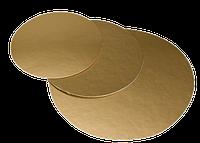 Подложка круглая золотая, h-1 мм Ø 28 см, фото 1