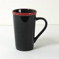 Керамическая чашка черная, фото 1