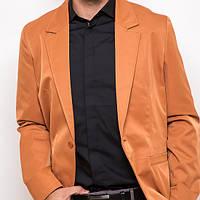 Стильный клубный пиджак мужской на одну пуговицу оранжевый