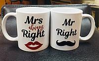 """Чашки «Мистер и миссис всегда правы"""", фото 1"""