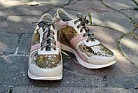 Женские кроссовки с пайетками, фото 1