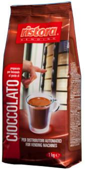 Горячий шоколад Ristora Cioccolato, 1кг талия, Растворимый шоколадный напиток