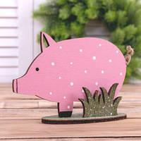 Свинка в горошек   фигурка дерево