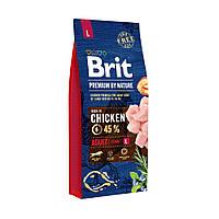 Brit Premium by Nature ADULT L - корм c улучшенным вкусом для взрослых собак крупных пород (25-45кг) 15 кг
