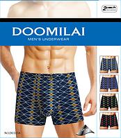 Мужские трусы боксёры хлопок+бамбук Doomilai (ростовка XL-2XL-3XL-4Xl) ТМБ-18885