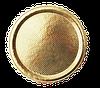 Поднос круглый золотой, h-3мм Ø 34 см