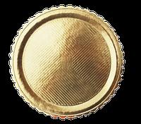 Поднос круглый золотой, h-3мм