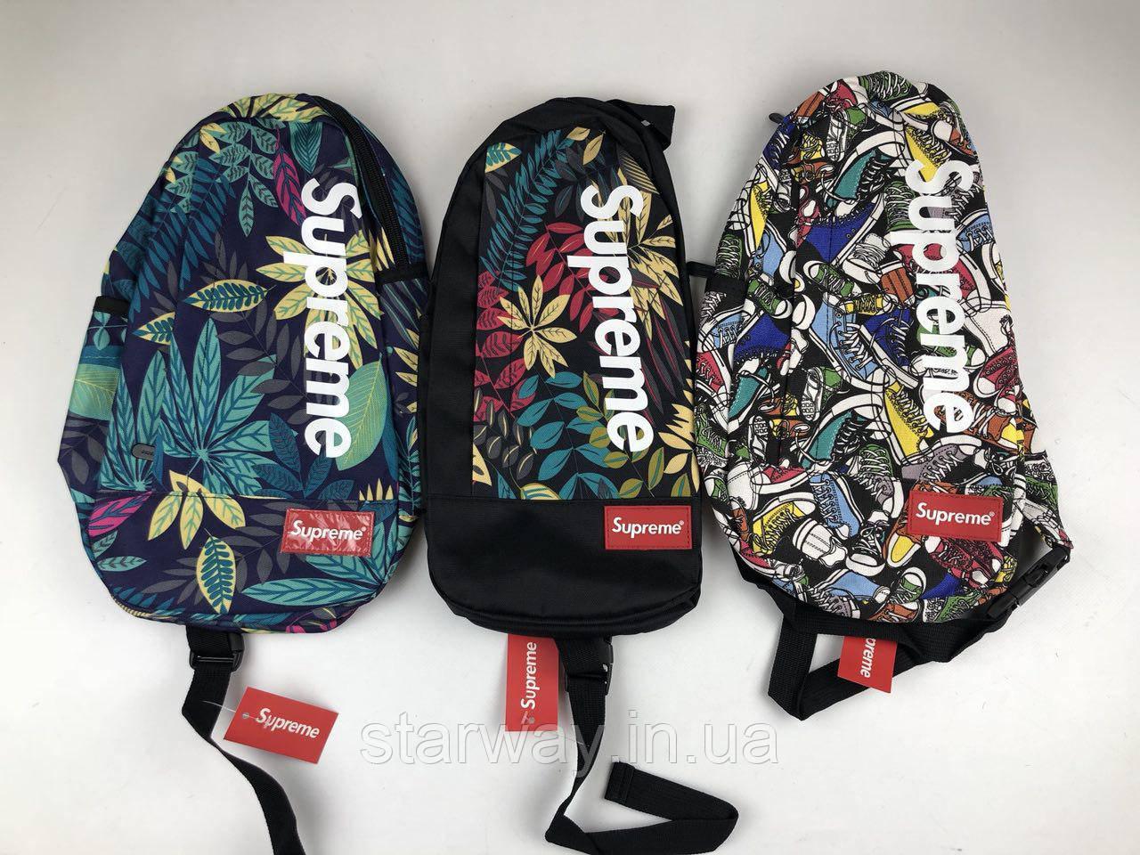 Сумка мессенджер Supreme тропики кеды лого | новая модель