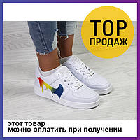 49c29b7c Женские кроссовки Nike Air Force, белые с цветным / кроссовки женские Найк  Аир Форс,