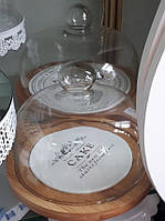 Подставка для сыра (торта, пирожных) со стеклянной крышкой D-24,5 СМ. 28375