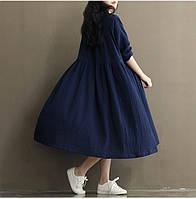 Платье из льна осень-весна.