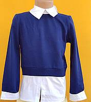 Рубашки-обманки детские, длинный рукав оптом (10-13 лет) Турция