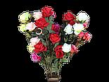 Роза искусственная 5 голов , фото 2