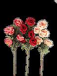 Роза искусственная 5 голов , фото 3