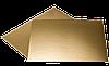 Подложка усиленная прямоугольная золотая, h-3мм