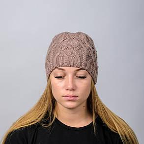 """Вязанная женская шапка """"Doroty"""", фото 2"""