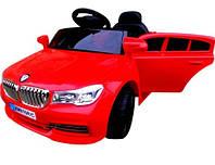 Детский автомобиль Cabrio B4 + пульт bluetooth + MP3 вход + функция медленный старт красный