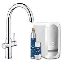 Смеситель для кухни с системой очистки воды. Grohe Blue Home 31455000
