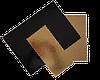 Подложка прямоугольная фигурная золотая / черная, h-3мм