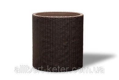 Круглий горщик CYLINDER PLANTER M темно-коричневий (Keter)