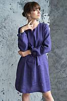 Платье из льна осень-весна, оригинальный дизайн. Цвет на выбор, фото 1
