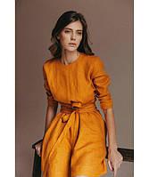 Копия Платье из льна осень-весна, оригинальный дизайн. Цвет на выбор, фото 1