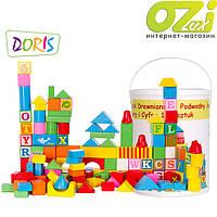 Деревянные кубики в ведре Doris 128 шт, фото 1