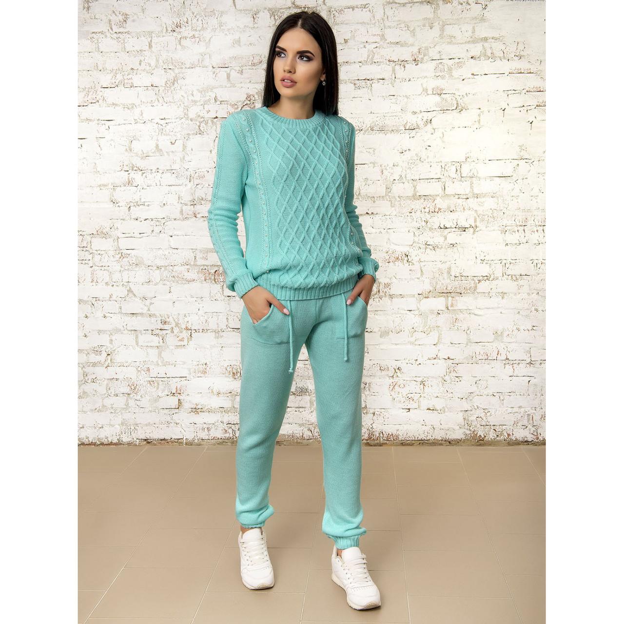 Легкий вязаный костюм 42-44-46 размер 5цветов