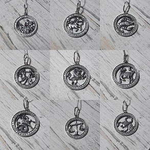 Серебряная подвеска, знак зодиака, Дева, фото 2