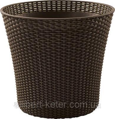 Квітковий горщик CONIC PLANTER 56,5 L темно-коричневий (Keter)