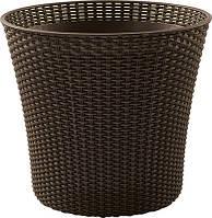 Квітковий горщик CONIC PLANTER 56,5 L темно-коричневий (Keter), фото 1