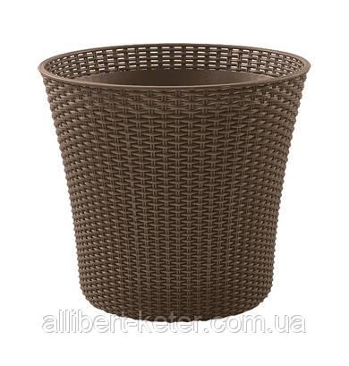 Квітковий горщик CONIC PLANTER 56,5 L коричневий (Keter)