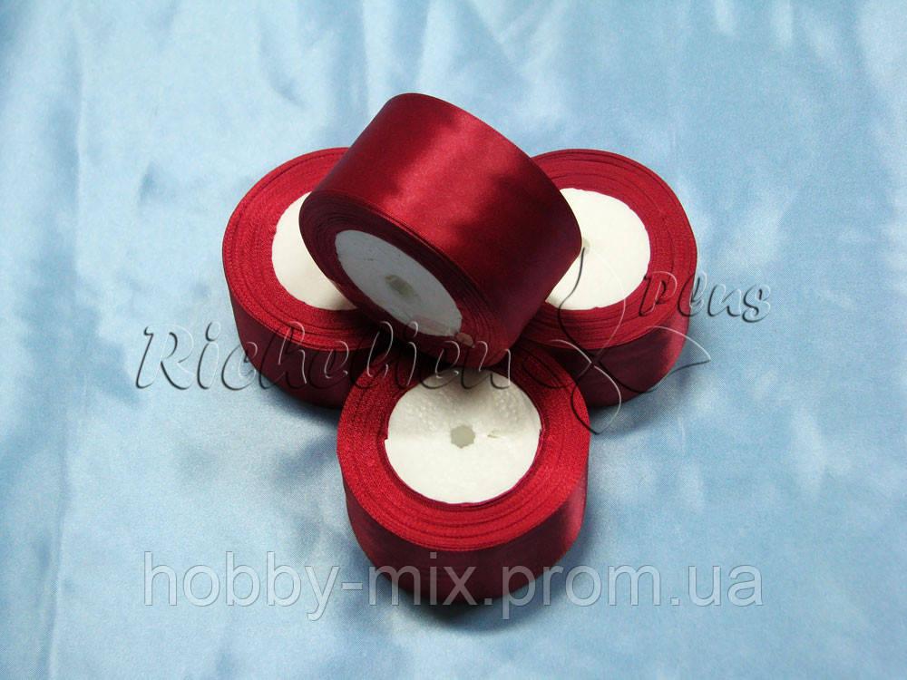 Лента атлас 50 мм, красный