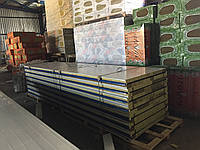 Сендвич панель кровельная базальт 50мм