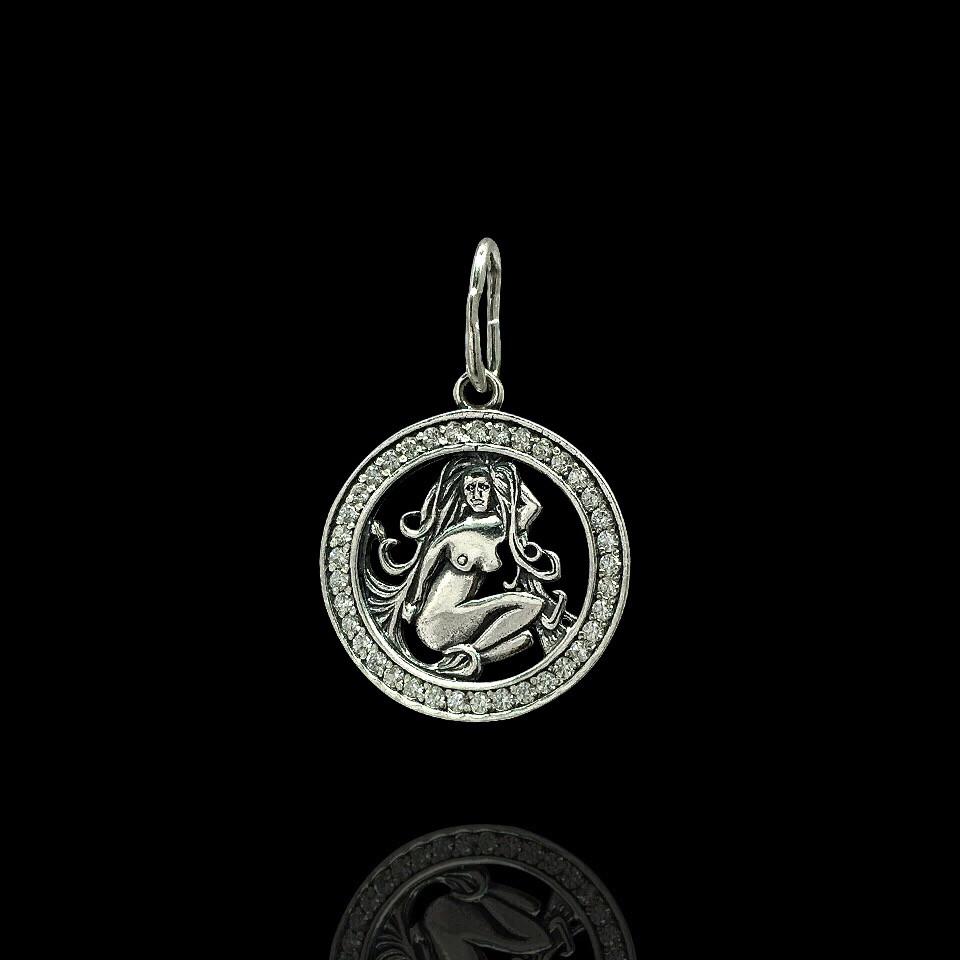 Серебряная подвеска, знак зодиака, Дева