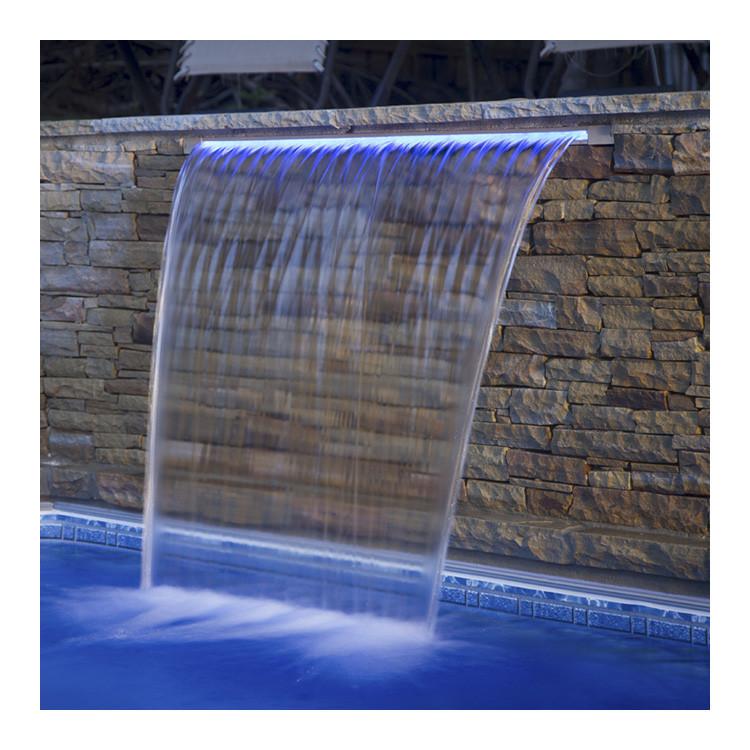 Стеновой водопад EMAUX PB 600-230(L) с LED подсветкой для бассейна