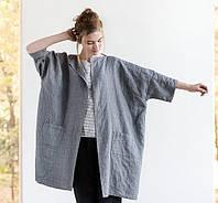 Кардиган, свободный пиджак из льна, любой длины и цвета на выбор., фото 1