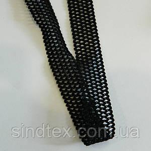 Ажурная резинка для нижнего белья, черная 2см (25 метров)