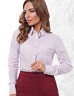 d995ec8a4bf3222 Сиреневая приталенная рубашка в категории блузки и туники женские в ...