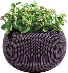 Квітковий горщик COZIES M фіолетовий (Keter)