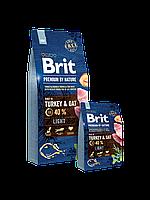 Brit Premium by Nature LIGHT Turkey & Oats - корм для собак с избыточным весом (индейка/овес)