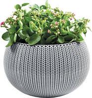 Квітковий горщик COZIES M сірий (Keter), фото 1