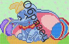 """Схема для вышивки бисером """"Слоненок Дамбо"""""""