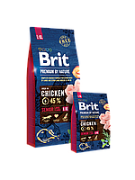 Brit Premium by Nature SENIOR L+XL - корм для пожилых собак крупных и гигантских пород 15 кг