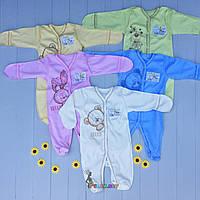 """Человечек трикотажный """"Мишка"""" (100% хлопок, интерлок) 62 р., цвет на выбор, фото 1"""