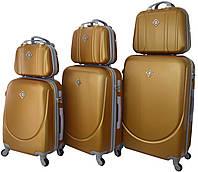 Набор чемоданов и кейсов 6 в 1 Bonro Smile золотой (10110408)