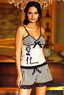 Женская пижама, костюм для дома футболка  и шорты Sahinler B483