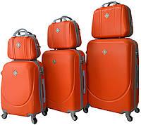 Набор чемоданов и кейсов 6 в 1 Bonro Smile оранжевый (10110409)